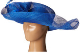 Scala Sinamay Split Brim with Flower and Feather Trim