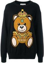 Moschino bear intarsia jumper - women - Cotton - XXS