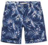 Incotex - Printed Cotton And Linen-blend Shorts