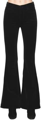 J Brand Valentina High Rise Velvet Flared Pants