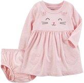 Carter's Baby Girl Pink Cat Dress