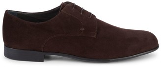Canali Lace-Up Suede Oxfords
