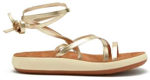 Womens Metallic Leather Gold Morfi Sandals Comfort y7gbf6