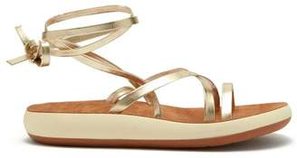 Ancient Greek Sandals Morfi Comfort Metallic Leather Sandals - Womens - Gold