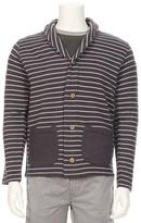 SOLCA Shawl Collar Cardigan With Back Logo