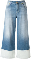 7 For All Mankind panel-detail cropped jeans - women - Cotton/Spandex/Elastane - 26