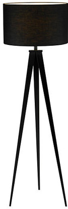One Kings Lane Director's Tripod Floor Lamp - Black