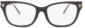 Cartier Core Cat-eye Acetate Glasses - Black