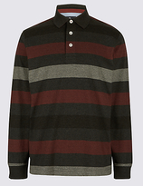 Blue Harbour Pure Cotton Striped Rugby Top