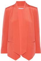 Rebecca Minkoff Becky Asymmetric Silk Crepe De Chine Jacket