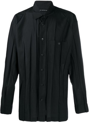 Issey Miyake Pleated Pointed Collar Shirt