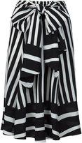 Tome Baja striped tie skirt