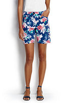 """Classic Women's Tall Mid Rise 7"""" Chino Shorts-Sail Blue Floral"""