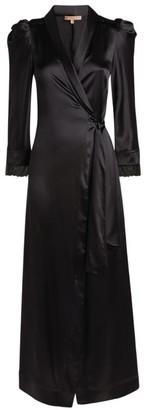 Ermanno Scervino Lace Trim Long Robe