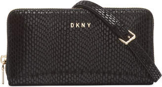 DKNY Sally Leather Wallet on a Chain