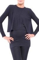 Olian Women's Kim Popver Maternity/nursing Tunic Top