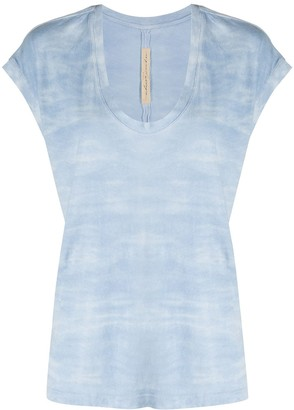 Raquel Allegra tie dye print T-shirt