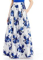 Eliza J Jacquard Floral Printed Ballgown Skirt