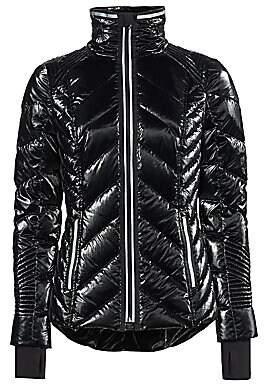 Blanc Noir Women's Superhero Quilted Puffer Jacket