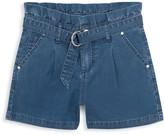 Joe's Jeans Girl's Paperbag Waist Denim Shorts