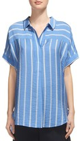 Whistles Ellen Striped Short-Sleeve Shirt