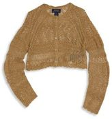 Ralph Lauren Little Girl's Cropped Pointelle Knit Cardigan