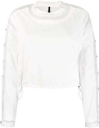 Unravel Project snap button panelled sweatshirt