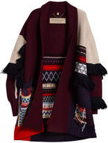 Burberry patchwork cardigan coat