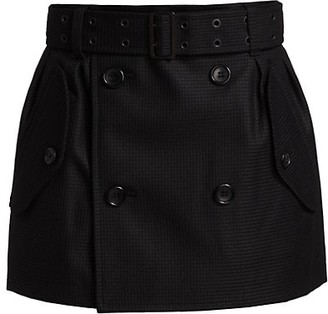 Junya Watanabe Belted Check Double Breasted Mini Skirt
