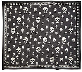 Alexander McQueen Men's Skull Silk Scarf
