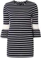 Dorothy Perkins **Tall navy stripe flutter sleeve