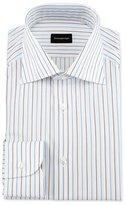 Ermenegildo Zegna Alternating Striped Dress Shirt, Light Blue