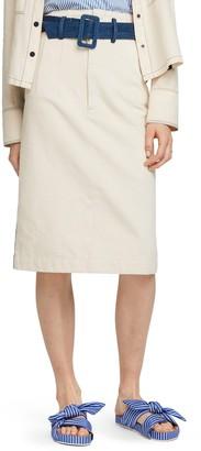 Scotch & Soda Colorblock Cotton Denim Pencil Skirt