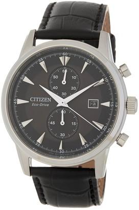 Citizen Men's Corso Eco-Drive Leather Watch, 42mm