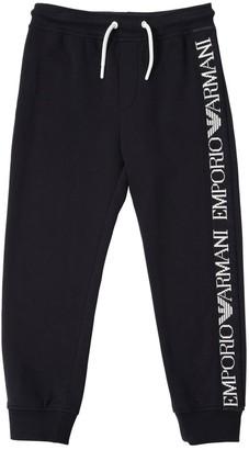 Emporio Armani Cotton Sweatpants W/ Logo Bands