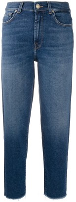 7 For All Mankind Malia high-rise cropped jeans