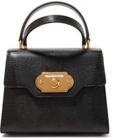 Dolce & Gabbana Welcome Small Lizard-effect Leather Tote - Black