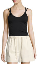 Helmut Lang Double Strap Seamless Tank Top, Black