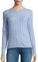 Lord & Taylor Cable Knit Cashmere Sweater