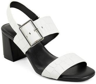 Aerosoles Women's Sandals WHITE - White Buckle Essex Leather Sandal - Women