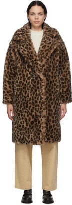 Yves Salomon Meteo Yves Salomon - Meteo Brown and Beige Wool Leopard Coat