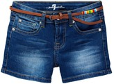 7 For All Mankind Belted Short-Short (Big Girls)