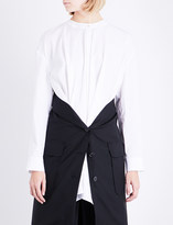 Chalayan Layered cotton-poplin and wool shirt