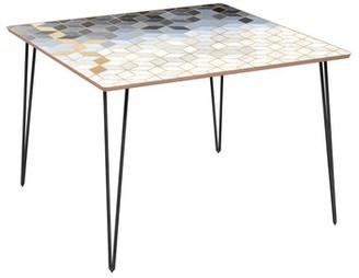 Bungalow Rose Eisenhauer Dining Table Top Color: Walnut, Base Color: Black