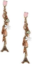 Betsey Johnson Eiffel Tower Dangle Linear Earrings