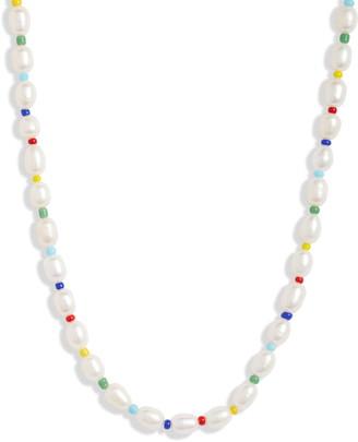 Argentovivo Rainbow Pearl Necklace