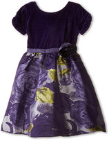 Us Angels Velvet/Brocade Cap Sleeve w/ Flower & Full Skirt (Little Kids)