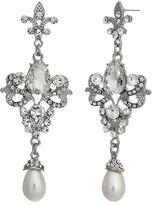 Crystal Allure Linear Drop Earrings