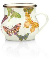Mackenzie Childs MacKenzie-Childs Butterfly Garden Enameled Mug