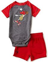 Under Armour Baby Boys Newborn-12 Months Peanut Outfielder Raglan Sleeve Bodysuit & Solid Shorts Set